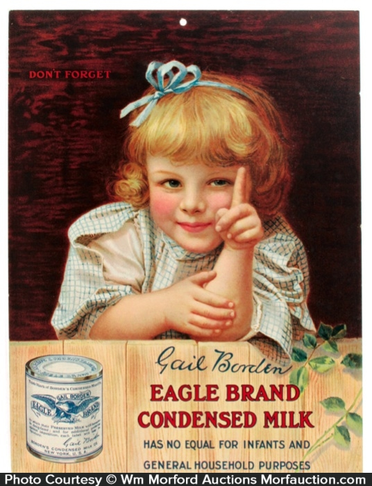 Borden's Eagle Condensed Milk Sign