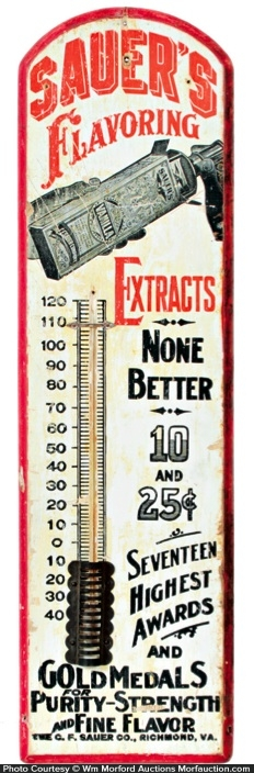 Sauer's Flavoring Extracts Thermometer