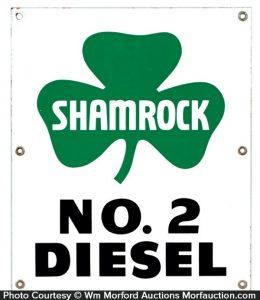 Shamrock Diesel Sign