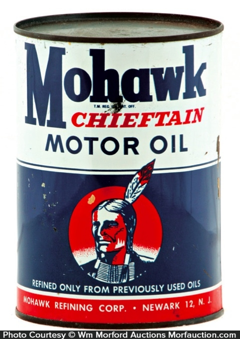 Antique advertising mohawk chieftain motor oil can for What motor oil should i use
