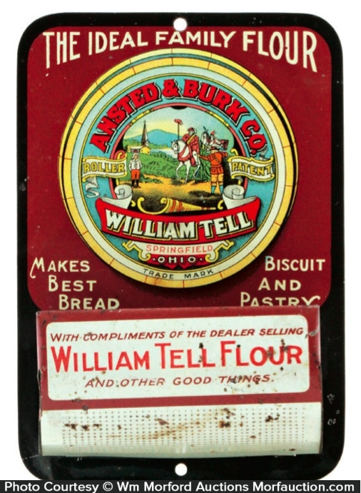 William Tell Flour Match Holder