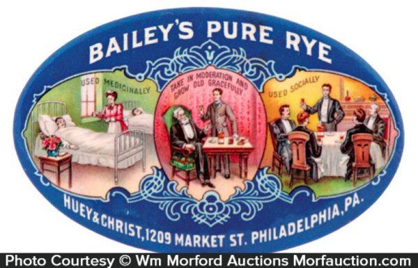 Bailey's Rye Whiskey Mirror