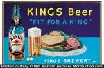 Kings Beer Sign