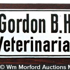 Dr. Gordon Huse Veterinarian Sign