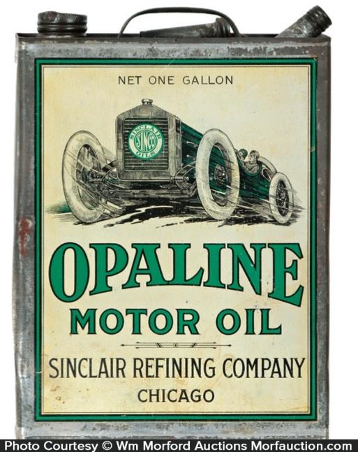 Opaline Motor Oil Tin