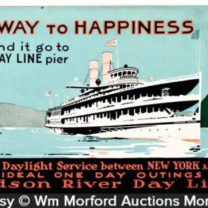 Hudson River Boat Sign