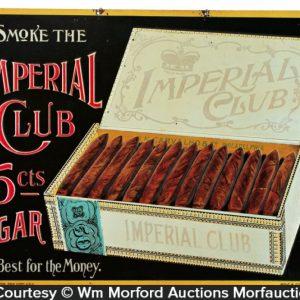 Imperial Club Cigar Sign
