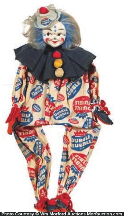 Double Bubble Clown Doll