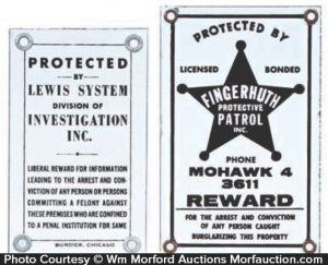 Porcelain Detective Agency Signs