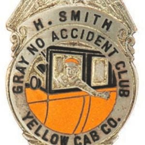 Yellow Cab Badge