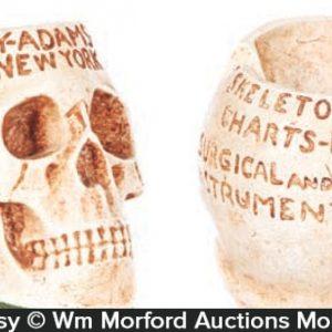 Antique Advertising Skull