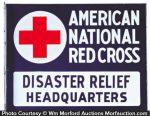 Red Cross Porcelain Sign