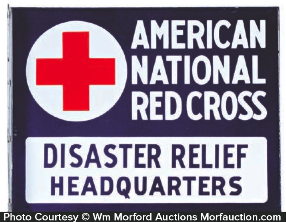 Red Cross Porcelain Sign