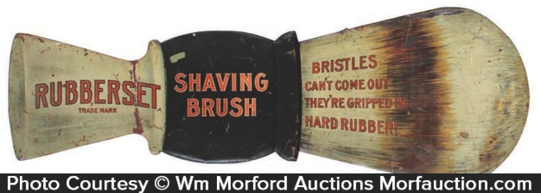 Rubberset Shaving Brush Sign