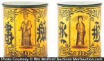 Antique Oriental Tea Tins