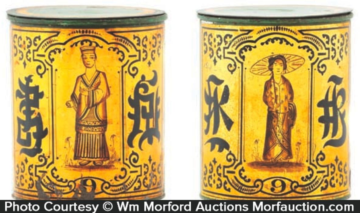 Antique Oriental Tea Tins