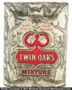 Twin Oaks Tobacco Sample Tin