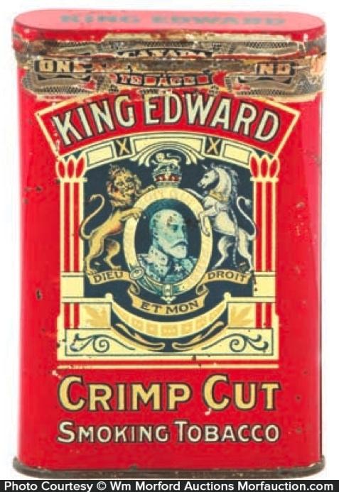 King Edward Crimp Cut Tobacco Tin