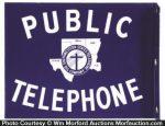 Porcelain Public Telephone Sign