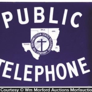 Porcelain Public Telephone Sign