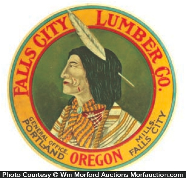 Fall City Lumber Paperweight Mirror