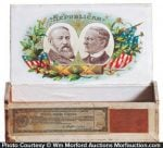 1888 Harrison Republican Cigar Box