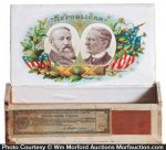 1888 Harrison Republican Cigar Box