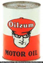 Oilzum Motor Oil Can