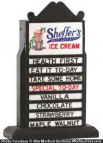 Sheffer's Ice Cream Display