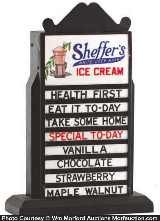 Sheffer's Ice Cream Display