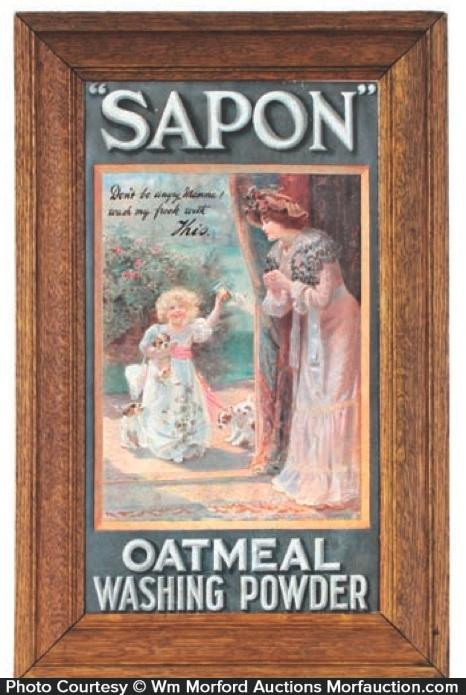 Sapon Washing Powder Sign