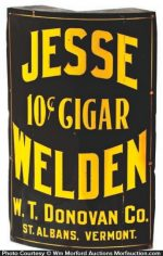 Jesse Welden Cigar Sign