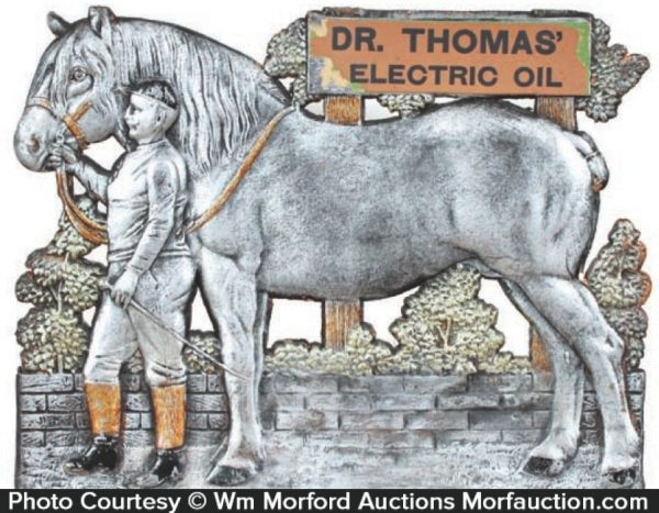 Dr. Thomas Electric Oil Veterinary Sign