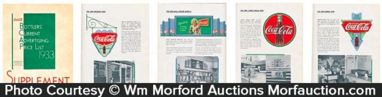 1933 Coke Signs Catalog