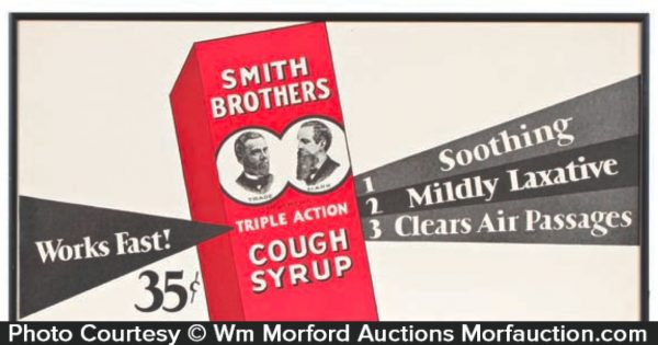 Smith Brothers Cough Syrup Sign
