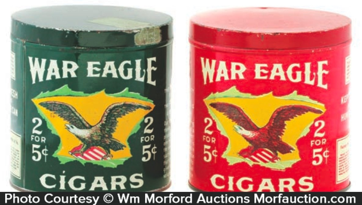 War Eagle Cigar Tins