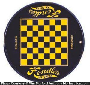 Hendler's Ice Cream Chess Sign