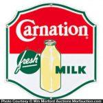 Carnation Fresh Milk Sign