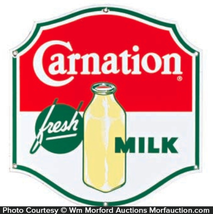 Carnation Fresh Milk Sign