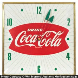 Coca-Cola Fishtail Clock