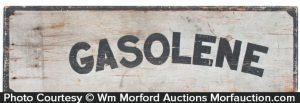 Wooden Gasoline Sign