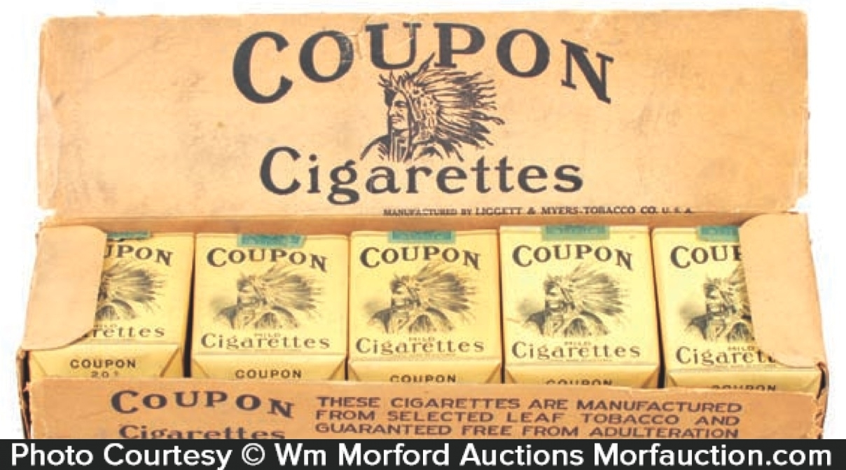 Coupons for free packs of cigarettes