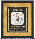 Quaker Boy Cigar Sign