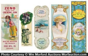 Antique Chewing Gum Bookmarks