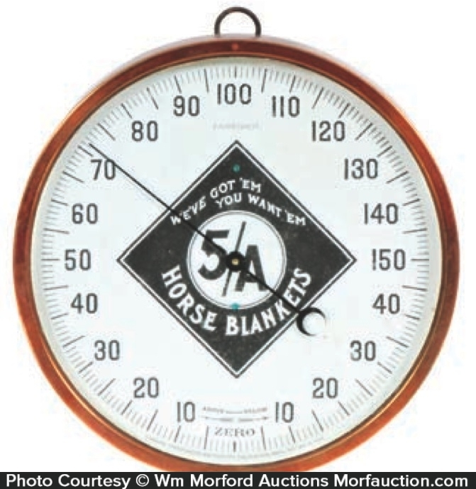 5A Horse Blankets Thermometer