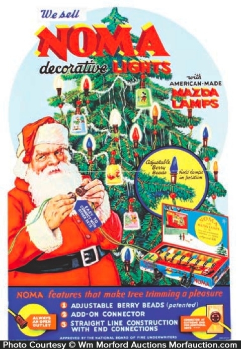 Antique Advertising | Noma Christmas Lights Display • Antique Advertising