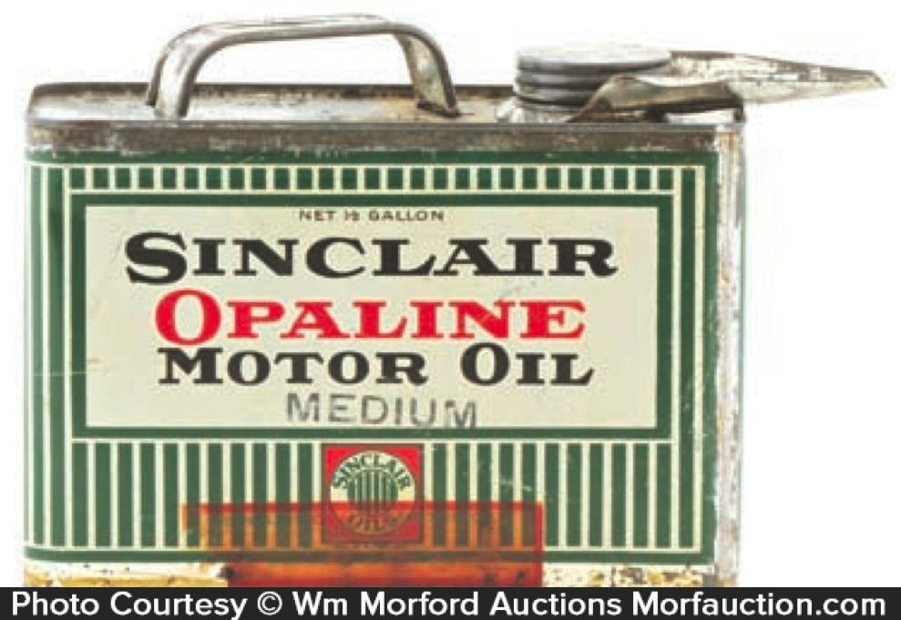 Sinclair Opaline Motor Oil Can