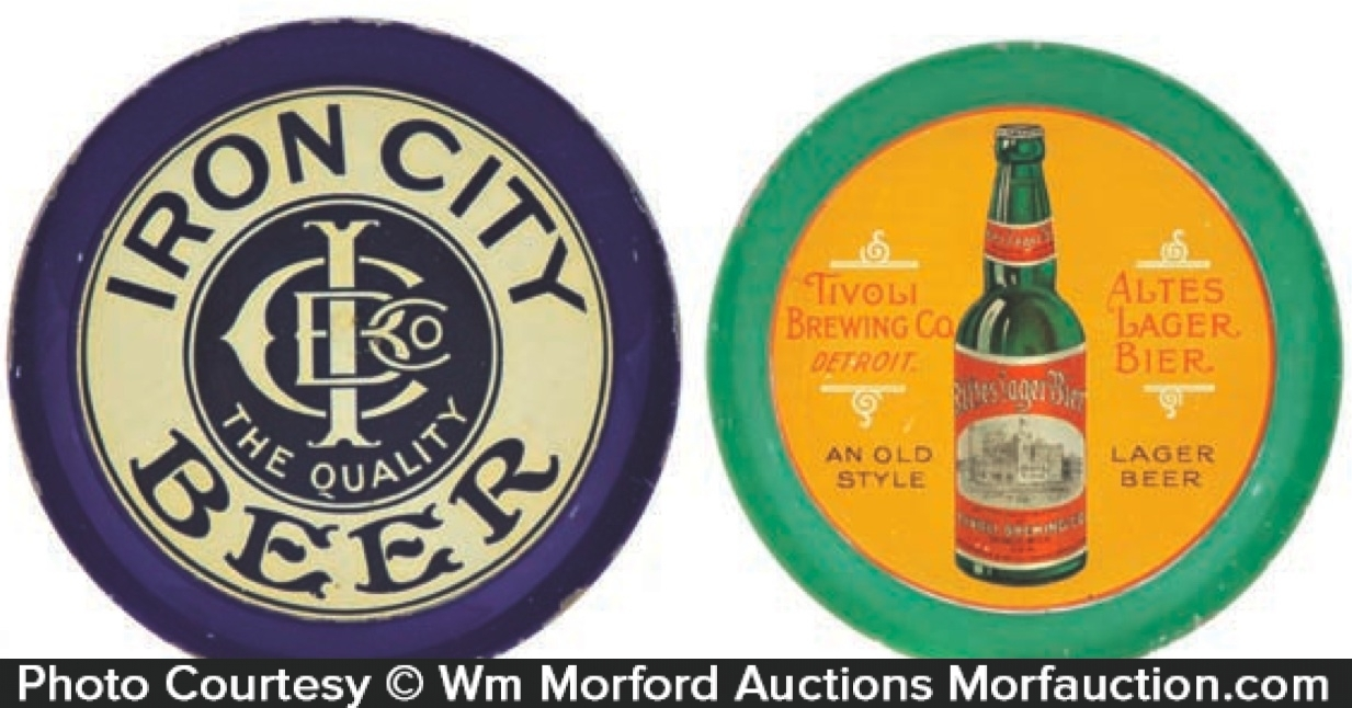 Vintage Brewery Tip Trays