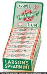 Larson's Spearmint Gum Box