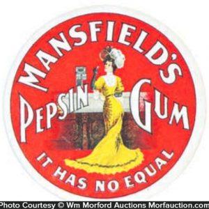 Mansfield's Gum Label